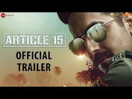 Article 15 - Trailer | Ayushmann Khurrana | Anubhav Sinha | Releasing on  28June2019 - YouTube